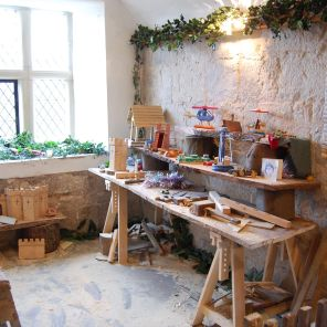 Santa's elves workshop in the tower