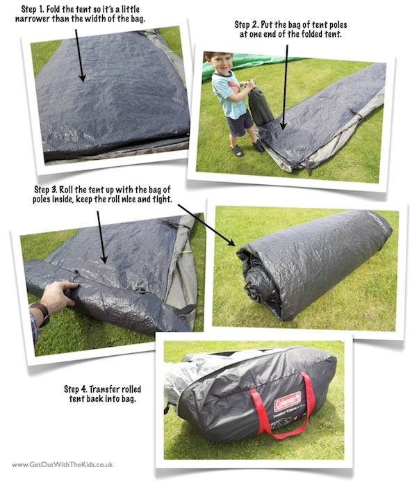steps to packing away your tent