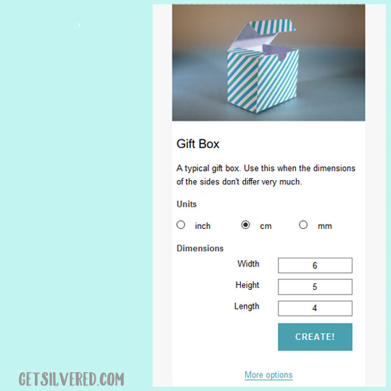 Make Boxes Envelopes and Bags in Custome Sizes to use with