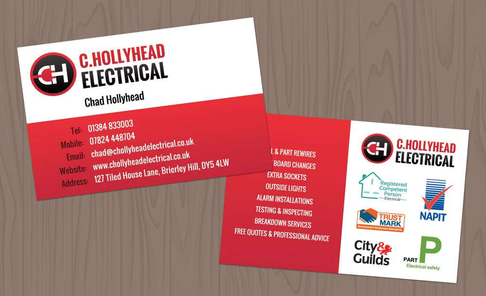 electrical business cards