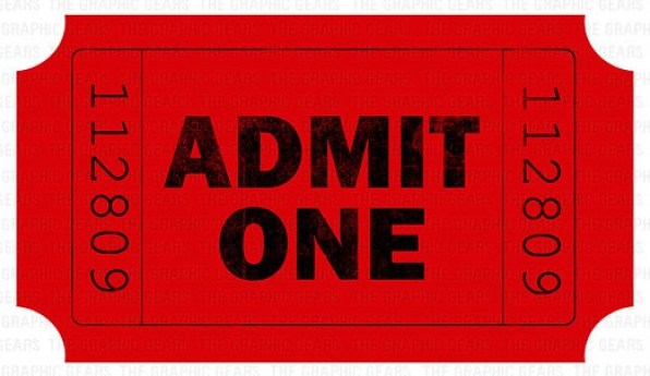Free Admission ticket templates - Word - Excel - PDF Formats