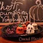 Halloween Style- Caramel & Chocolate Covered Marshmallow Pops! #CBias #SweetenTheSeason