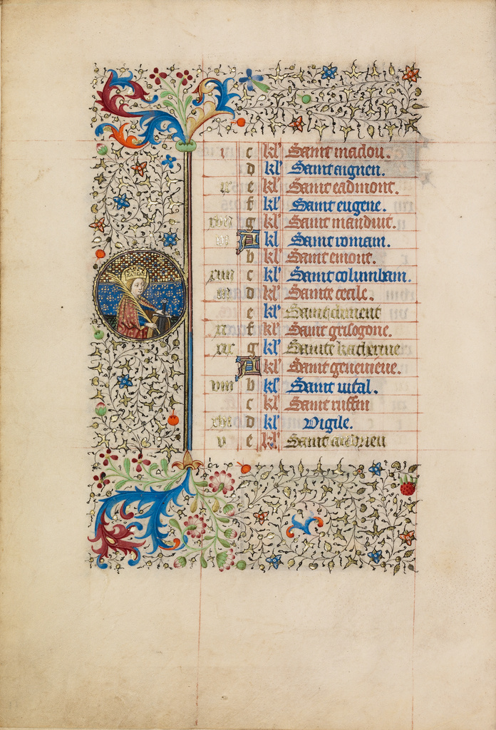 November Calendar Page; Saint Catherine (Getty Museum)
