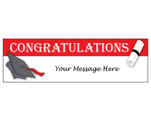 Congratulations Graduate Banner - Holiday  Celebration Flags