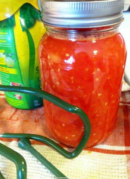 Medium Of Pressure Canning Tomatoes