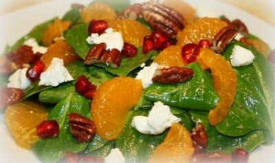 Homemade Fresh Spinach Salad Getty Stewart