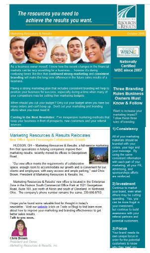 Small Business Newsletters Internet Marketing Automation