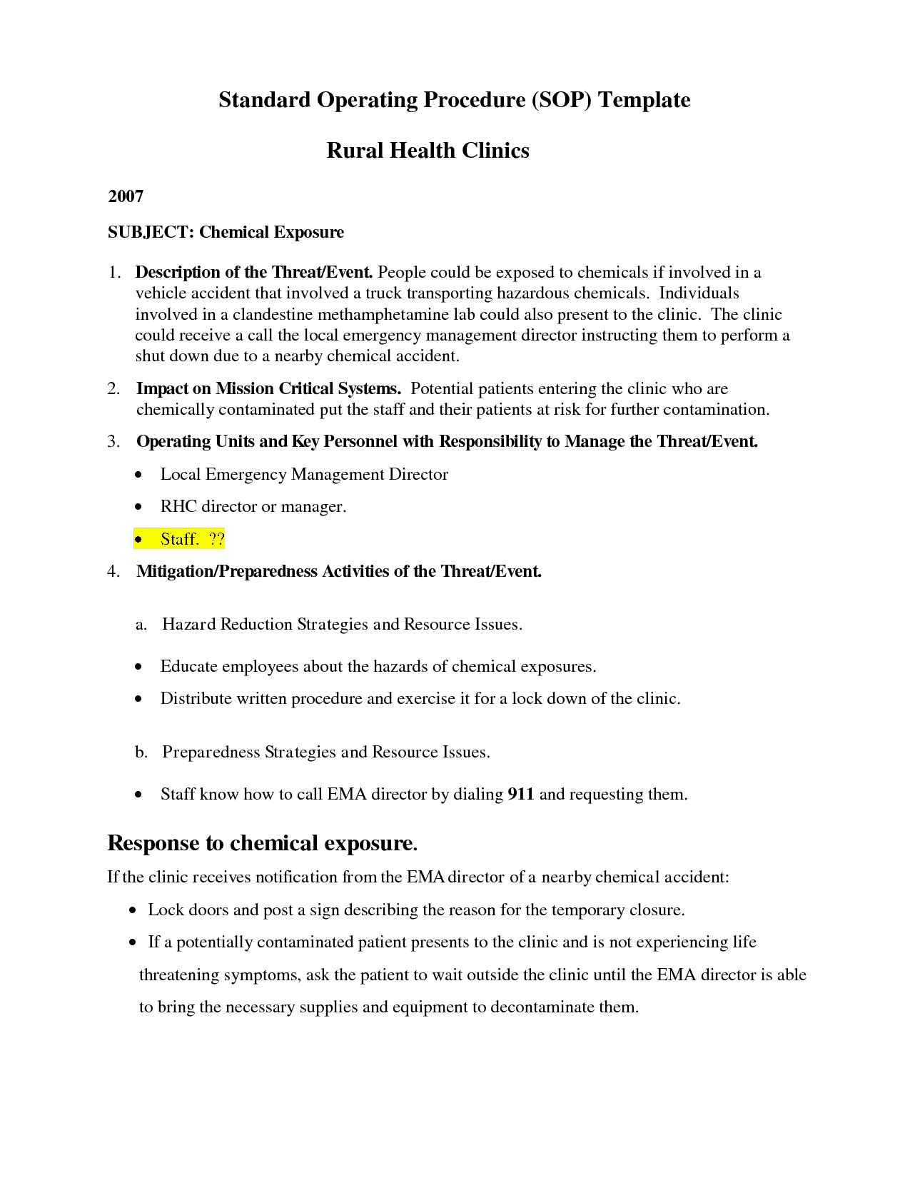 Free Sop Manual Template – Microsoft Office Manual Template