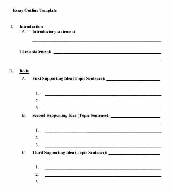 template of an essay