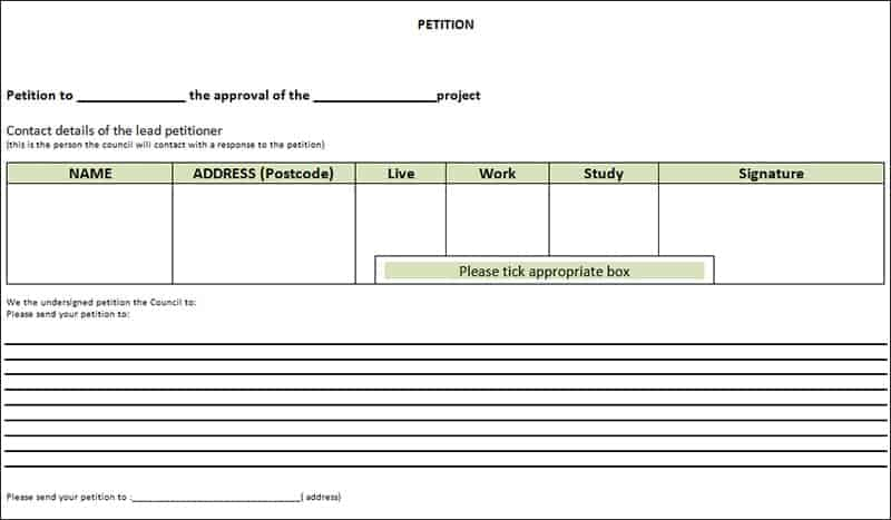 blank petition template - Josemulinohouse - free petition templates examples