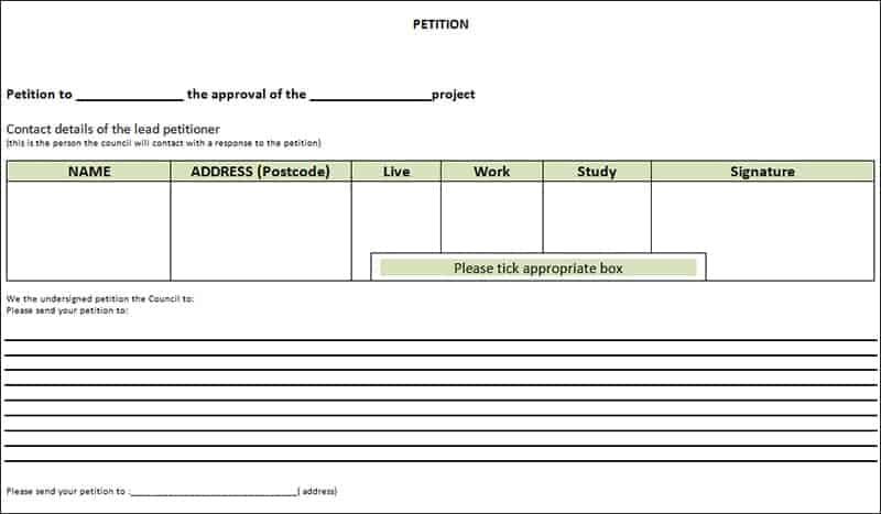 blank petition template - Josemulinohouse