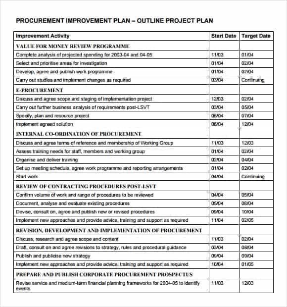 10+ Project outline templates - Word Excel PDF Formats