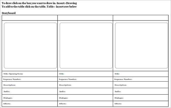 10 Storyboard Templates Word Excel Pdf Formats
