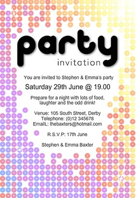 word party invitation template