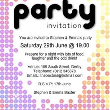 party invite template