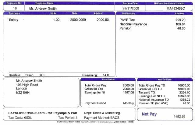 10  payslip templates