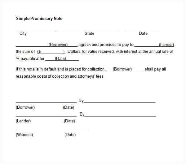 11+ Promissory Note Templates - Word Excel PDF Formats - promisary note template