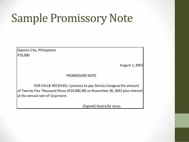 11+ Promissory Note Templates - Word Excel PDF Formats - draft promissory note agreement