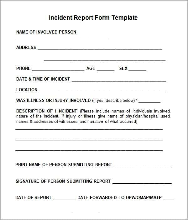 10+ Incident Report Templates - Word Excel PDF Formats - incident reporting template