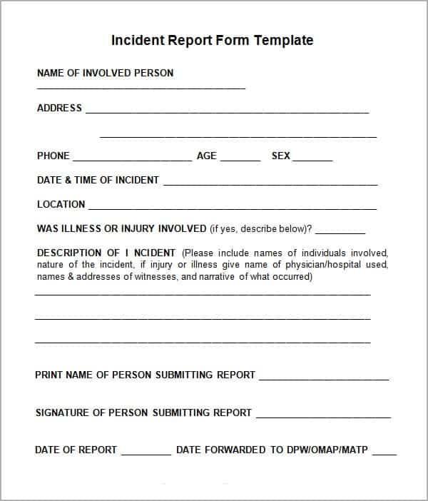 incident report management