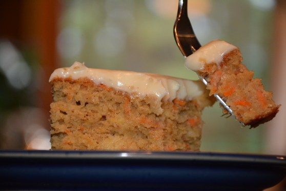 spiced carrot cake. gf and me 2013.