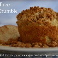 apple crumble gluten free muffins