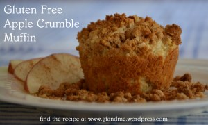 apple crumble muffin. gfandme.