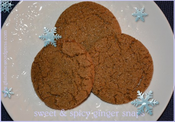 gluten free ginger snaps. gf and me.