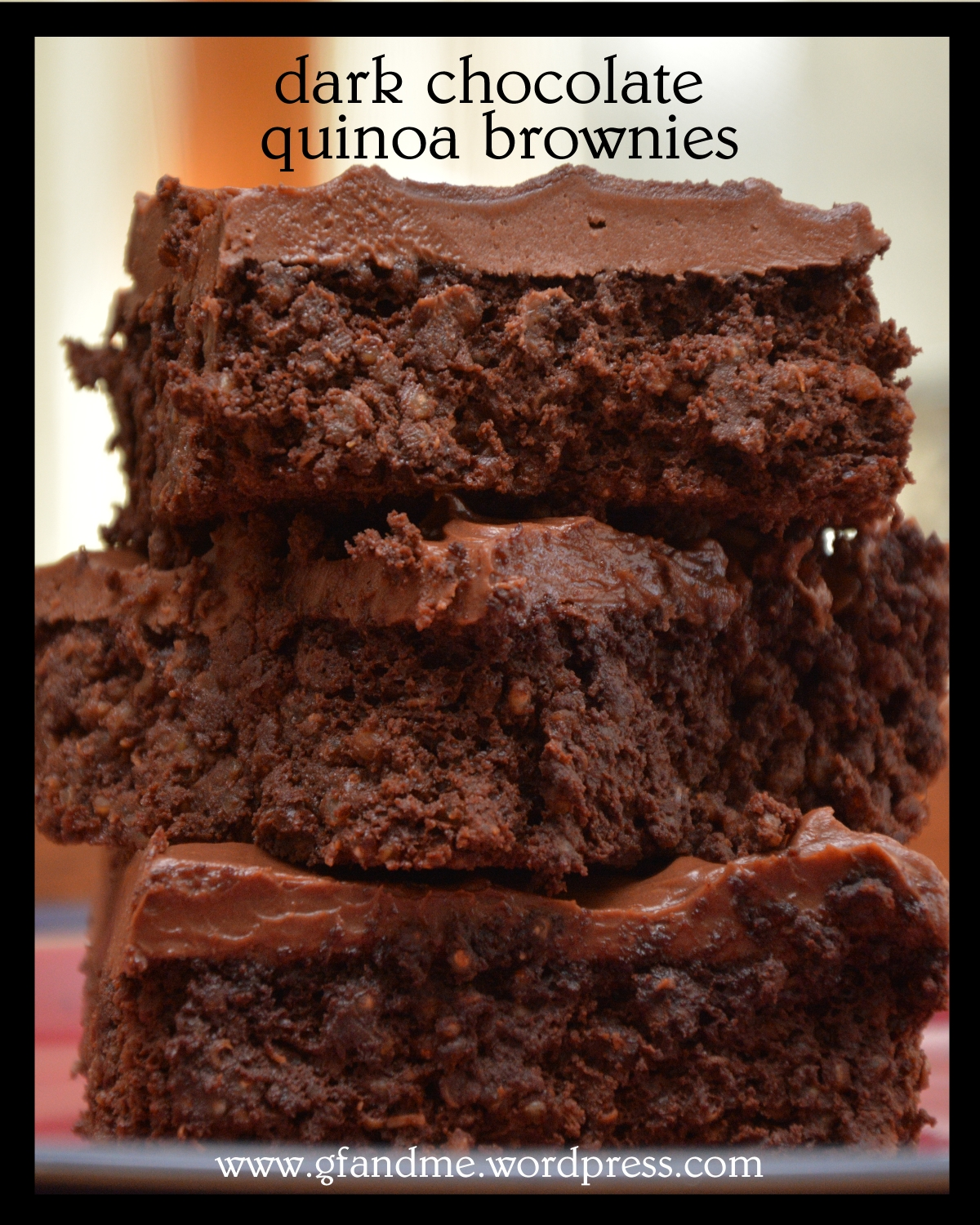 gluten free brownies with quinoa & Nutella icing