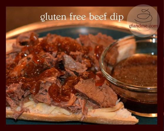 gluten free beef dip sandwich
