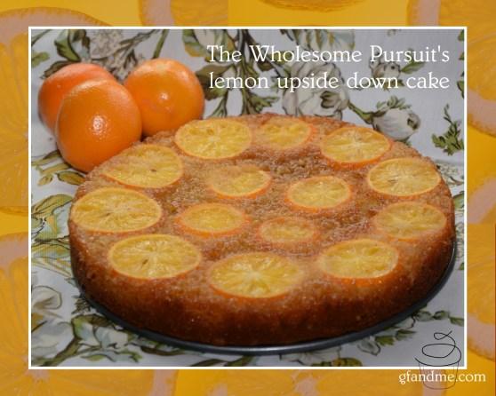 gluten free lemon upside down cake. gfandme 2014.