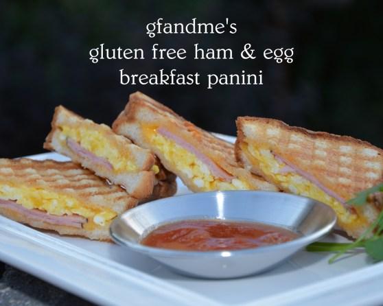 gluten free ham and egg breakfast panini