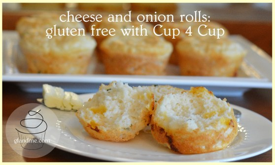 cheese and onion rolls - gluten free with cup 4 cup