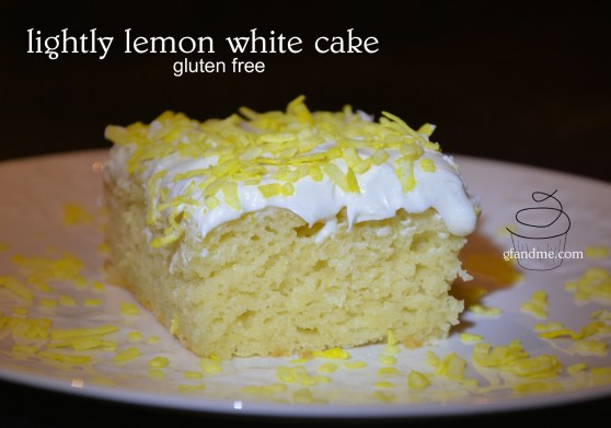 Lightly Lemon Gluten Free White Cake. Perfect for layer or birthday cakes. gfandme.com