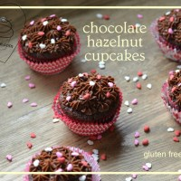 chocolate hazelnut cupcakes with Nutella frosting