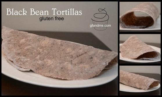 Black Bean Gluten Free Tortillas. gfandme.com