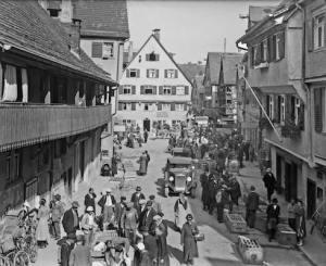 Blick in die Schwanenstraße. 1934