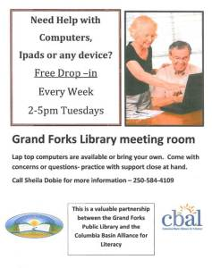 Computer Help @ Grand Forks and District Public Library | Grand Forks | British Columbia | Canada