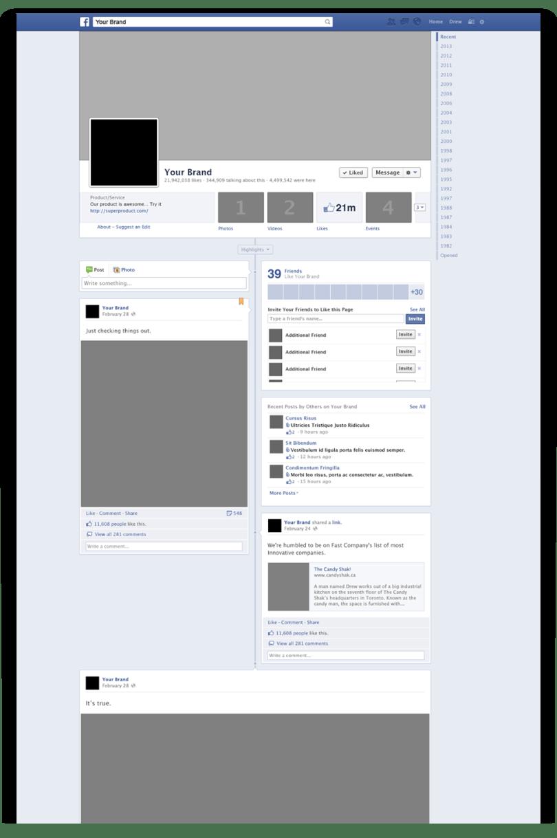 facebook timeline mockup psd