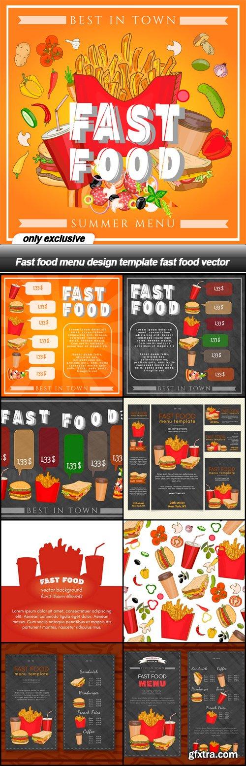 Fast food menu design template fast food vector - 9 EPS » Vector - menu design template