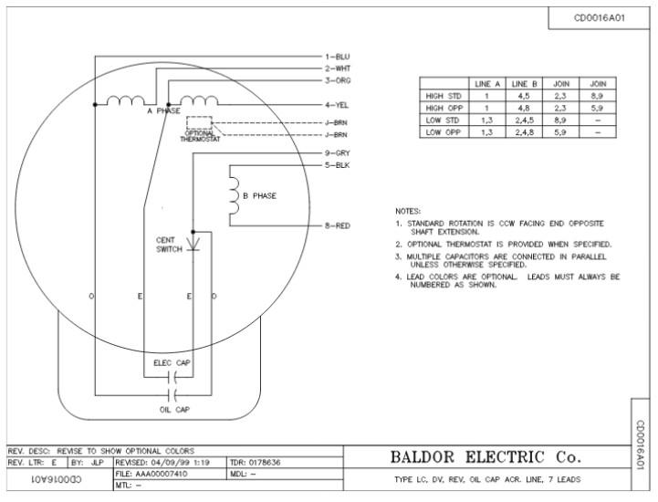 Baldor Motor Wiring Diagram 1 Phase Hp - Wiring Diagrams Schema
