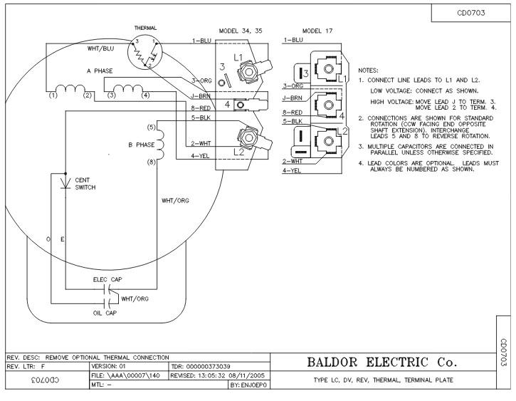 baldor wiring diagram 56c 115 230