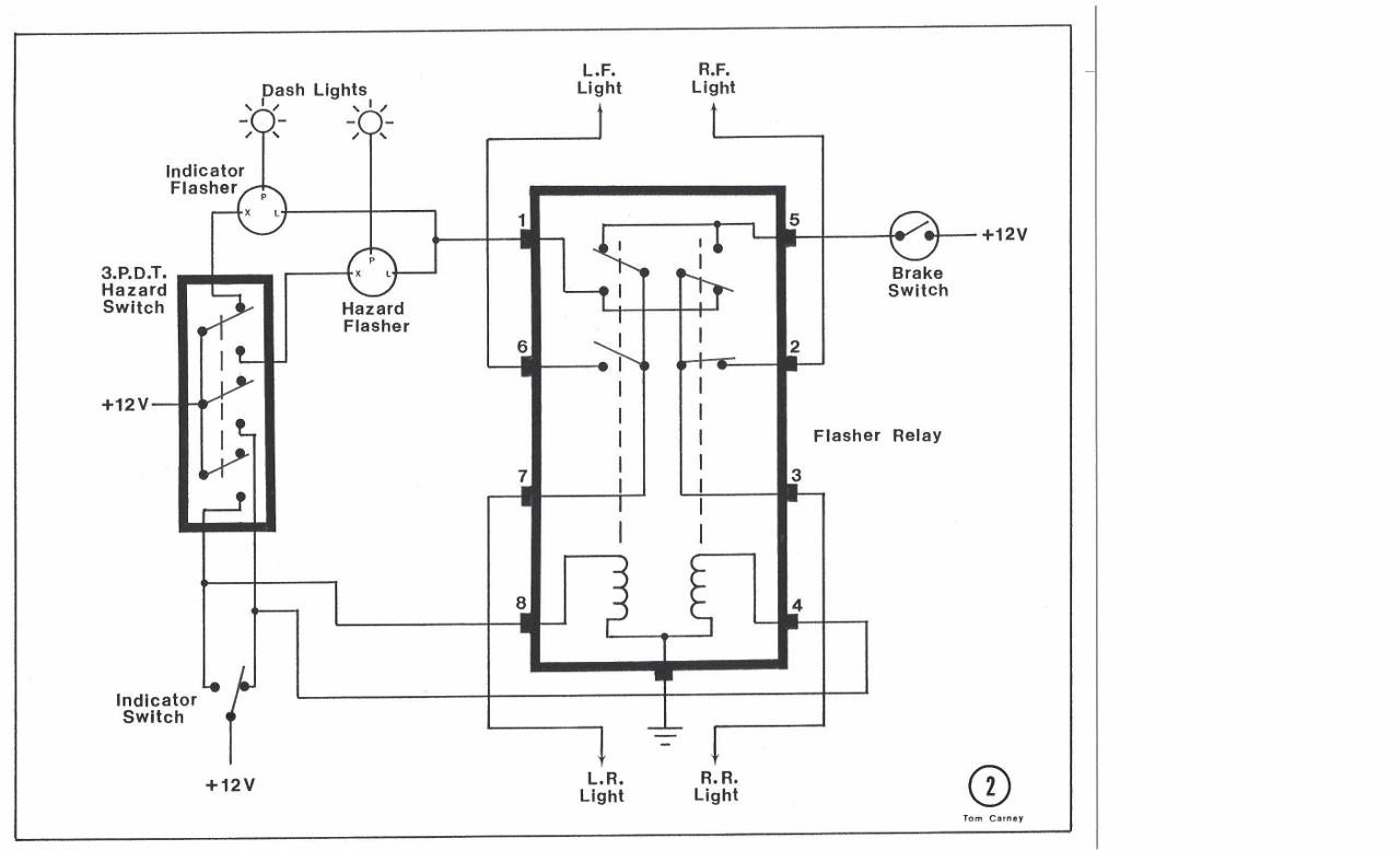 toyota 5 pin led flasher ledningsdiagram