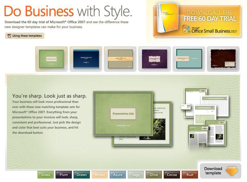 Microsoft Office 2007 Design Families - gHacks Tech News