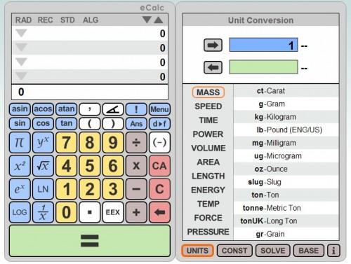 Online Calculator eCalc - gHacks Tech News