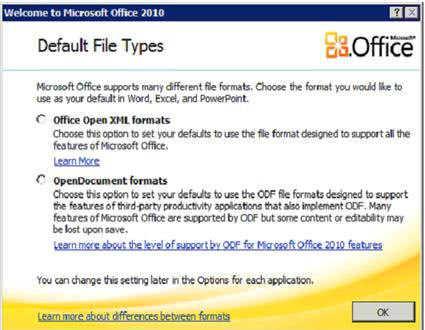 Configuring Default File Types In Microsoft Office 2010 - gHacks