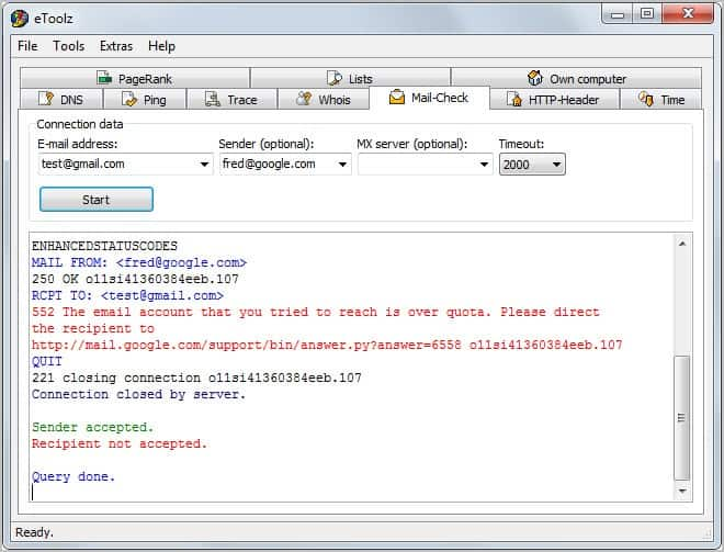 How To Verify If An E-mail Address Exists - gHacks Tech News