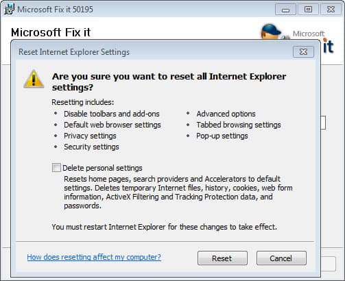 How To Reset Microsoft\u0027s Internet Explorer Browser - gHacks Tech News