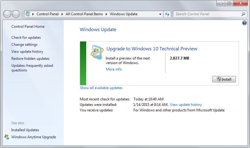 How to update Windows 7 or 8 to Windows 10 using Windows Update