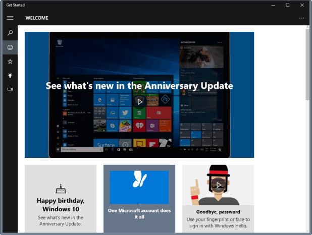 windows 10 get started